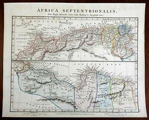 North Africa Ancient World Carthage Tripoli Libya 1828 Arrowsmith engraved map