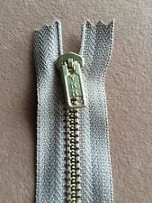 12 Pcs YKK Brown brass Coil Zippers Tailor Sewer Craft 8 inch Crafter's Thailand