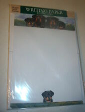 OTTER HOUSE WRITING PAPER ROTTWEILER FAMILY    20 SHEETS & ENVELOPES