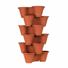 3 or 6 Tier Stackable Vertical Plastic Planter Mini Garden Herb Indoor/Outdoor