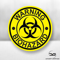 Warning Biohazard Funny Laptop Skateboard JDM Euro DUB Car Vinyl Decal Sticker