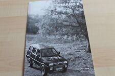 131703) Nissan Terrano II - technische Daten & Ausstattungen - Prospekt 11/1995