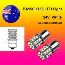 2 x 24V BA15S(1156) White Car Auto Light 2835 33SMD LED Brake/Reverse/Turn Globe