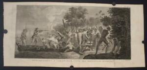 ERROMANGO VANUATU CAPTAIN COOK LANDING 1774 COOK/BENARD/HAWKESWORTH ANTIQUE VIEW