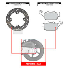 BREMBO REAR DISC (+ BRAKE PADS) - HONDA FES PANTHEON 150 (FROM 2003) - 68B40749