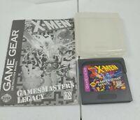 X-Men: GamesMaster's Legacy (Sega Game Gear 1995) Game and Manual
