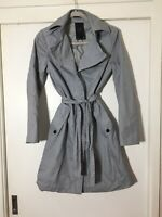 G Star Raw Womens Grey Trench Coat Size S Cotton Gorgeous!!