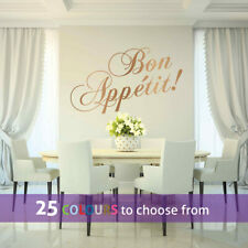 BON APPETIT wall sticker decal kitchen chef cook diner dining room restaurant