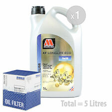 Engine Oil and Filter Service Kit 5 LITRES Millers XF Longlife ECO 5w-30 5L
