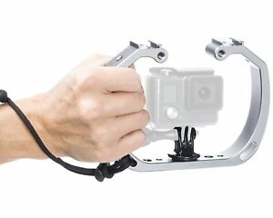 Movo GB-U70 Underwater Diving Rig w/Shoe Mounts & Wrist Strap for GoPro Cams