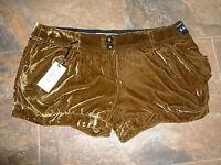 River Island Shorts Size 16 BNWT £27 Light Brown Baroque Rock Soft Dress Up