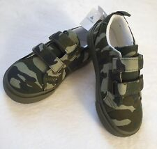 Baby Gap Baby Boy Green Camo Canvas Sneakers New With Tags Size 8