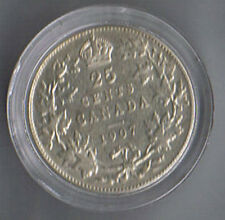 1907 Canada 25 Cents F+