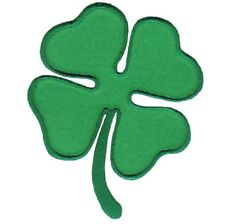 Four Leaf Clover Patch Applique - Shamrock, St Patty's Day (Iron on)