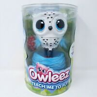 Owleez Teach Me To Fly Interactive Flying Owl w/ Nest White Spin Master