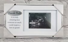 New Sneak Peek Malden Sonogram Ultrasound Whote Baby Frame Great Gift!