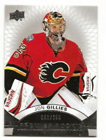 2017-18 UD PREMIER JON GILLIES SHORT-PRINTED ROOKIE CARD #63/399 (FLAMES)