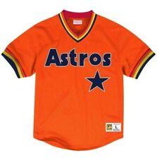 8aa8d1660 MITCHELL   NESS MLB Houston Astros Orange BATTING PRACTICE MESH JERSEY