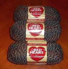 Red Heart Collage Yarn Lot Of 3 Skeins (Wood Trail #2940) 3.5 oz. Skeins
