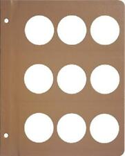 Dansco Coin Album 1 Blank Page 43.25mm For Large Ancient Coins Medals New