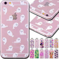 For Apple iPhone 6/6S Rubber TPU Skin Silicone Soft Back Cover Protective Case