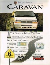 1995 Dodge CARAVAN Mini-Van Brochure w/ Spec's: GRAND,LE,SE,ES,SPORT,4WD,MiniVan