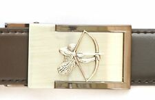 Archer Belt Buckle and Leather Belt in Gift Tin Ideal Bow Hunter Archery Present