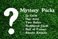 Baseball Card Mystery Pack! 25 Cards - Auto, Relics, Numbered, HOF'ers, Rookies