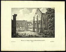 Antique Print-VILLERS LA VILLE-BELGIUM-pl.100-de Cloet-Madou-1825