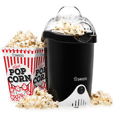 Savisto Healthy Popcorn Maker Machine Hot Air Popper and 6 Cinema Pop Corn Boxes