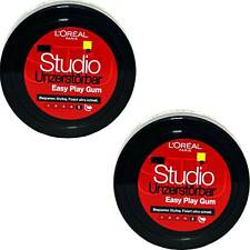 2x Loreal Studio Unzerstörbar Easy Play Gum Haargel Für Biegsame Stylings, 75ml
