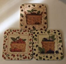 Longaberger Coasters With Various Fruit