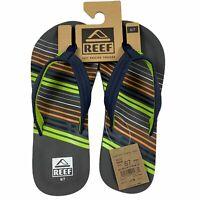 Reef Ahi Flip Flops Sandals Thongs Womens 6  Kids 6/7 Contoured Soles Charcoal