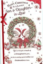 Son And Daughter-In-Law Christmas Extra Large Card With Lovely Verses
