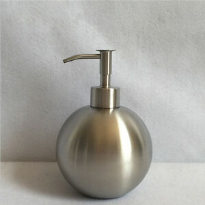 500ml Stainless Steel Standing Round Soap Liquid Lotion Dispenser Brushed Nickel