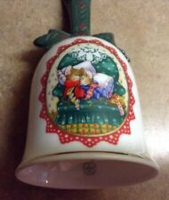 Christmas Bell Made in Japan Nib 1990 Avon Porcelain Bell with 22K Gold Trim Nos