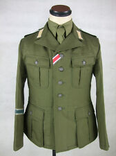 WWII German DAK Field Tunic Jacket With Insignia Green