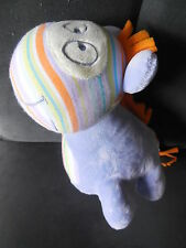 doudou peluche vache girafe zèbre poney violet mauve orange TAPE A L'OEIL 25cm
