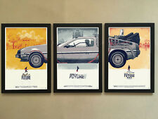 """3pcs Solid frame - 001 Back To The Future 12""""x16"""" Minimalist Wall Decor Poster"""