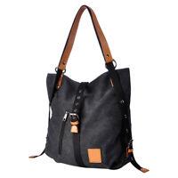 Women Canvas Leather Handbag Backpack Cross bag Multifunctional Shoulder Bag USA
