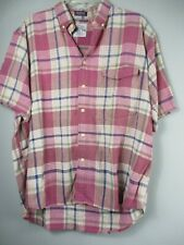 Vintage Salty Dog GANT Men's Size L Plaid Half Sleeve Button Front Shirt
