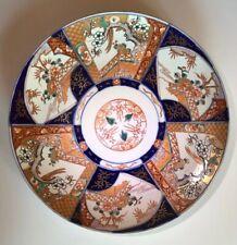 "Antique Japanese Large Imari Handpainted Platter Charger Plate 14.5"""