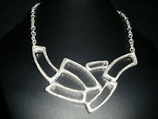 Nickel free irregular shaped silver plated link chain necklace jewellery