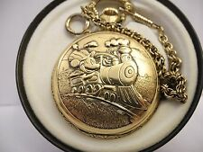 DISNEY MICKEY MOUSE POCKET WATCH NEW W/TIN AND CHAIN LOWERED PRICE