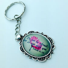 "JW KeyChain with Isaiah 41:10 ""Do not be afraid, for I am with you"" NWT"