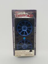 Integy RC Topcad T7012 Setup Wheel (4) For Touring Car (Blue) W/ Metric Size