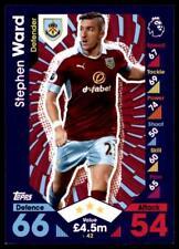 Match Attax 2016-2017 Stephen Ward Burnley Base card No. 42