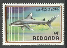 Redonda Antigua & Barbuda Poissons Requins Longimane Sharks Fishes Hai ** 1980