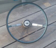 "1964 Chevrolet Bel Air 16 3/8"" Steering Wheel Complete w/ Horn Ring & Button OEM"