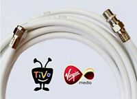 5M WHITE VIRGIN MEDIA TV and BROADBAND EXTENSION CABLE - FREE SHIPPING!